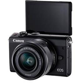 Canon EOS M100 Body With EF-M 15-45mm f/3.5-6.3 IS STM Lens - Black Thumbnail Image 3